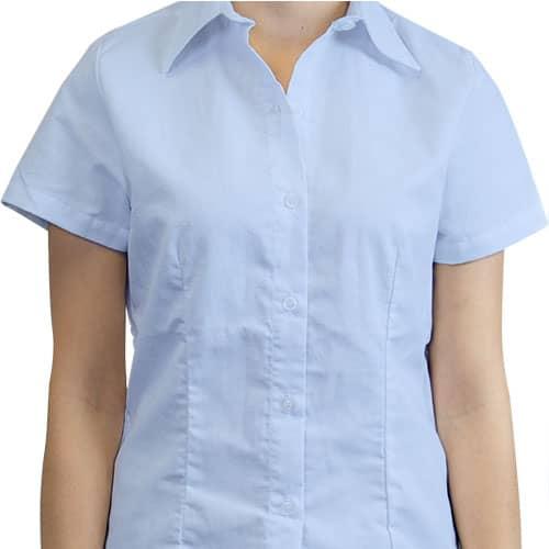 Camisa Oxford manga corta para Mujer