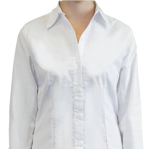 D0605 Camisa Oxford Manga Larga Para Mujer